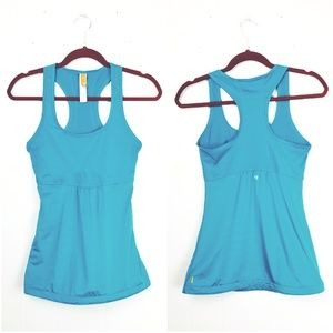 LUCY | Teal Drawstring Tank Top